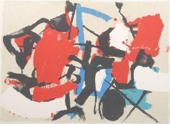 Lithographie Afro - Composizione (Per Mann)