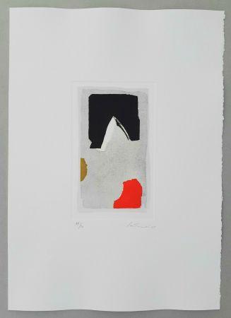 Gravure Santomaso - Composizione rosso/nero