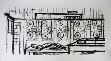 Lithographie Buffet - Computer, Siemens,