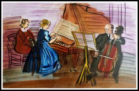 Lithographie Dufy - CONCERT DES ANGES III
