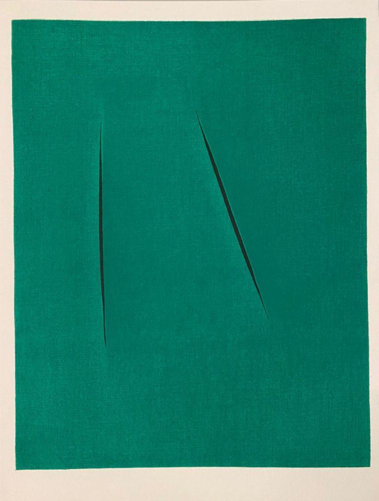 Lithographie Fontana - Concetto Spaziale