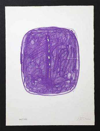 Lithographie Fontana - Concetto Spaziale, L-29