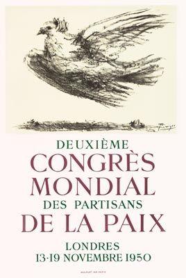 Affiche Picasso - Congrès de la Paix