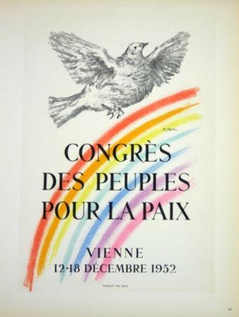 Lithographie Picasso - Congrés des Peuples pour la Paix  1952