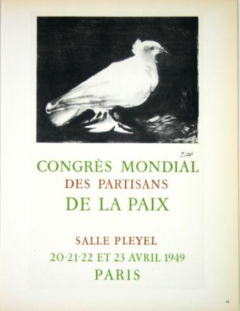 Lithographie Picasso - Congrés Mondial de la Paix  Avril 1949