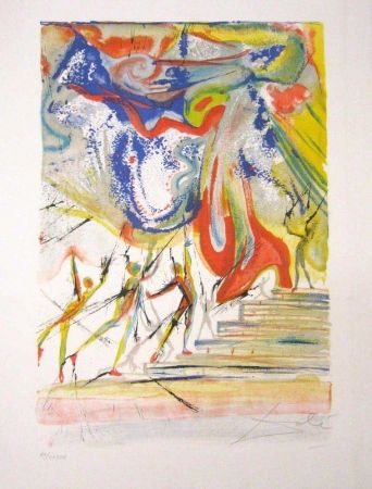 Lithographie Dali - Contes d'Andersen - The Red Shoes