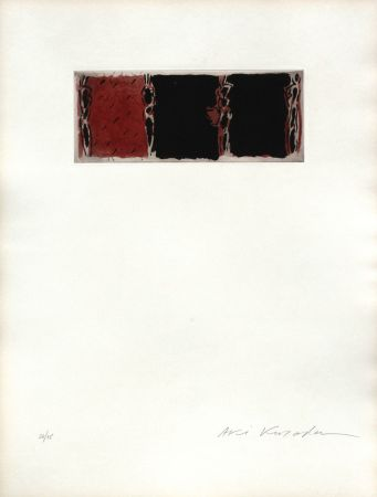Aquatinte Kuroda - ContiNUITe (rouge)