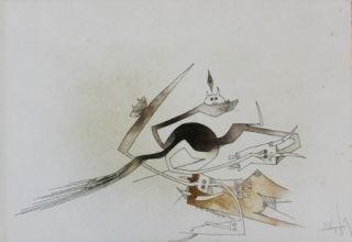 Eau-Forte Et Aquatinte Lam - Contre une maison sèche