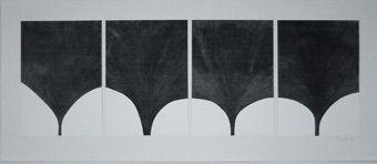 Sérigraphie Lucien - Contrepoint en gris