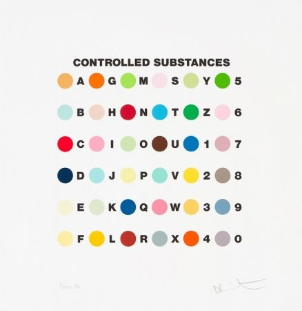Sérigraphie Hirst - Controlled substances