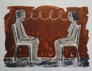 Lithographie Llimos - Conversa