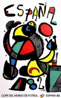 Affiche Miró - Copa del mundo 82