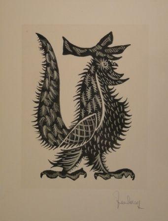 Lithographie Lurcat - Coq