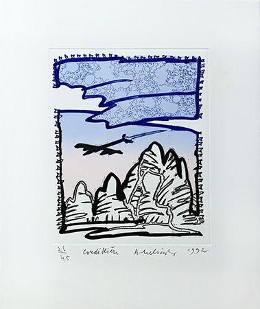 Gravure Alechinsky - Cordilliere