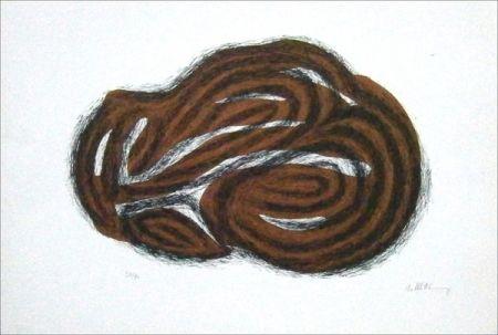 Lithographie Ubac - Corps Endormi