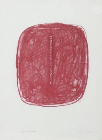 Lithographie Fontana - Corrente (Rosso)