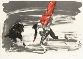 Lithographie Fischl - Corrida 2