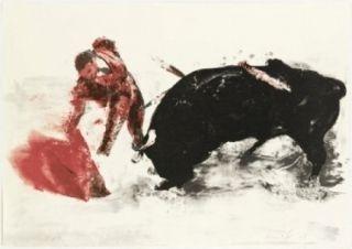 Lithographie Fischl - Corrida 3
