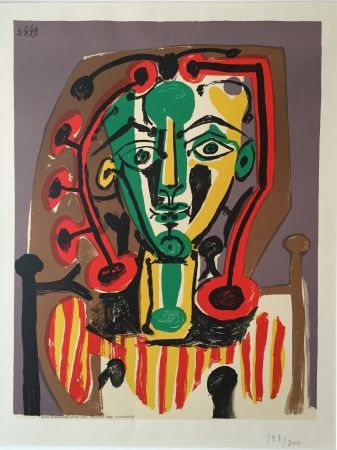 Lithographie Picasso - Corsage Raye