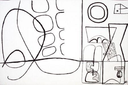 Lithographie Le Corbusier - Cortege...Jeux (b&w)