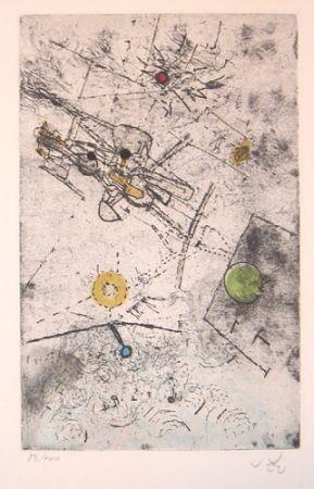 Eau-Forte Et Aquatinte Matta - Cosmic 2