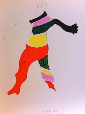 Gravure Miró (After) - Costume de la toupie
