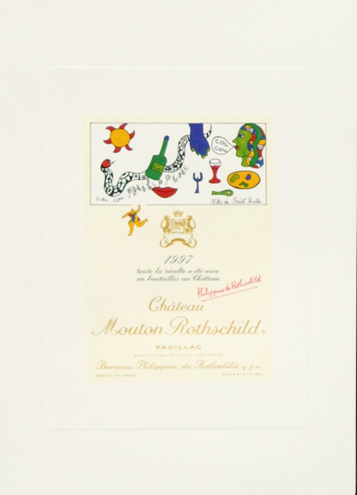 Lithographie De Saint Phalle - Cou Cou Philippine