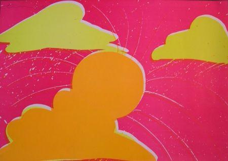 Lithographie Ting - Coucher de soleil du Sud