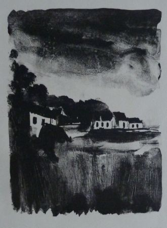 Lithographie Vlaminck - Country Houses