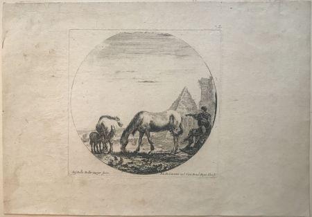 Pointe-Sèche Della Bella - Country side sene with horses