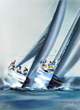 Lithographie Spahn - Coupe de l'America - Valence