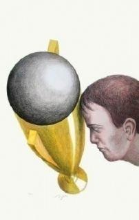 Lithographie Topor - Coupe du monde 82
