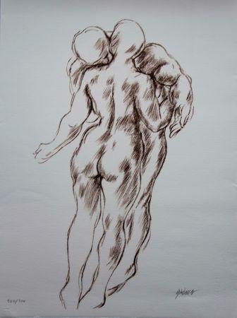 Lithographie Olovson - Couple