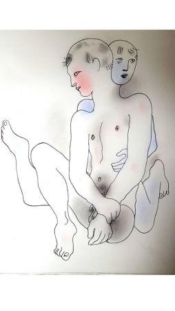 Lithographie Cocteau - Couple