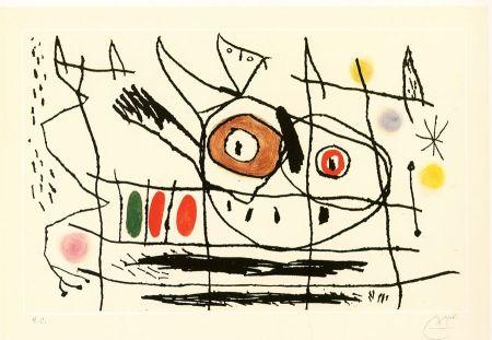 Eau-Forte Et Aquatinte Miró - Couple d'oiseaux
