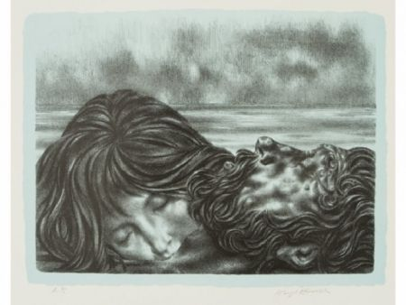 Lithographie Hirsch - Couples (includes
