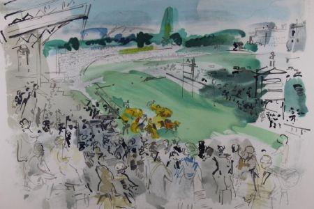 Lithographie Dufy - Courses À Deauville