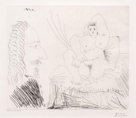 Aucune Technique Picasso - Courtisane au Lit avec un Visiteur