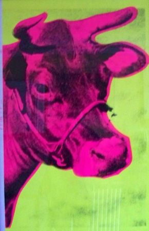 Sérigraphie Warhol - Cow yellow