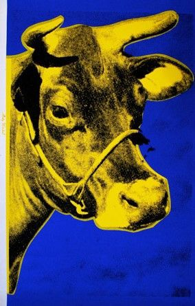 Sérigraphie Warhol - Cow (Yellow), 1971/89