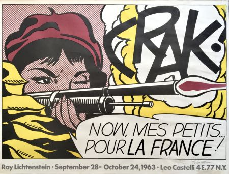 Lithographie Lichtenstein - Crak! Hand Signed Exhibition Poster 1963