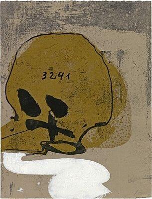Eau-Forte Et Aquatinte Tàpies - Crani amb xifres