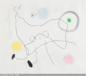 Aquatinte Miró - Crapaud Lyre