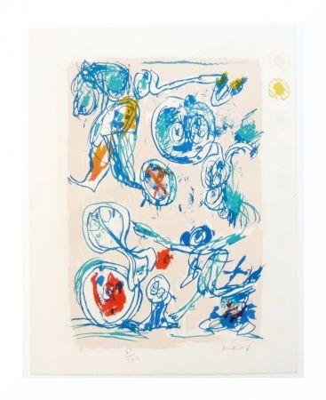 Lithographie Alechinsky - Crayon sur coquille - Ordre dispersé