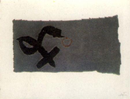 Gravure Tàpies - Creu deformada
