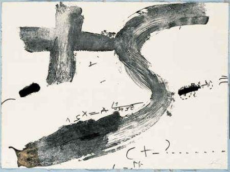Gravure Tàpies - Creu i S