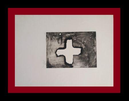 Gravure Tàpies - Creu sobre cap