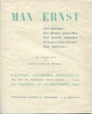 Livre Illustré Ernst - Crevel (René). Max Ernst. Ses Oiseaux, Ses Fleurs Nouvelles, Ses Foêts Volantes, Ses Malédictions, Son Satanas...