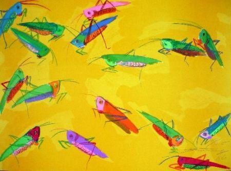 Sérigraphie Ting - Crickets