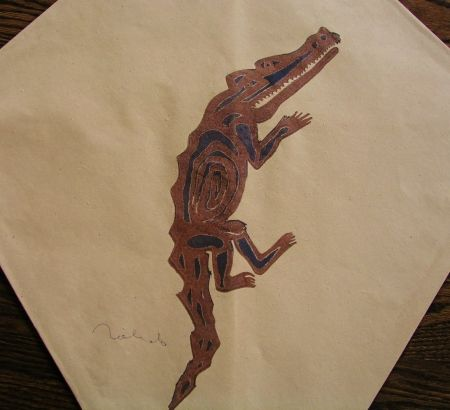 Sérigraphie Toledo - Crocodile kite III